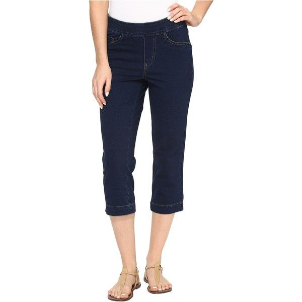 FDJ French Dressing Jeans Comfy Denim Wonderwaist Pull-On Capris in... ($22) ❤ liked on Polyvore featuring blue and fdj french dressing jeans
