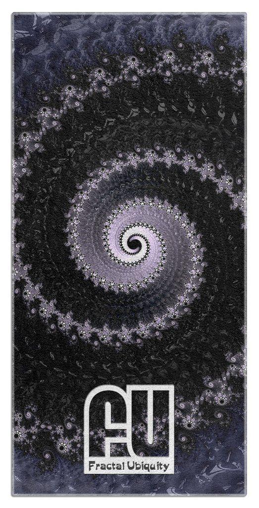 Fractal Hurricane Microfiber Polyester Oversized Beach Towel  by Fractal Ubiquity