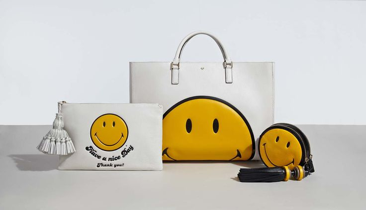 The #AnyaHindmarch AW14 Smiley Collection