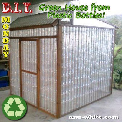 greenhouse made from plastic bottles