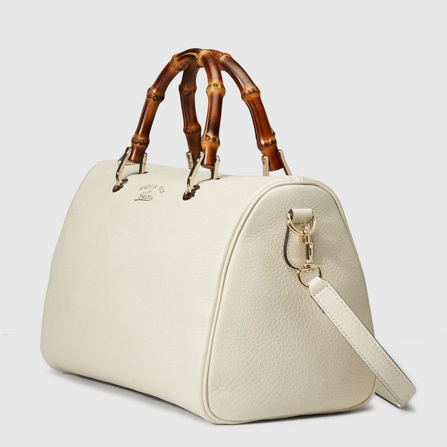 Bamboo Shopper leather boston bag