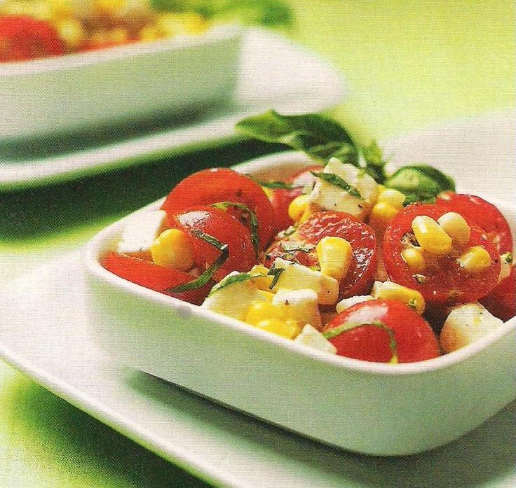 Caprese corn salad | Salads | Pinterest