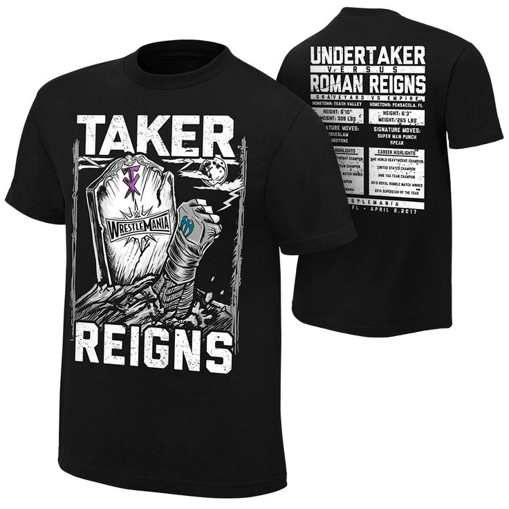 WrestleMania 33 Roman Reigns vs. Undertaker Match T-Shirt - WWE US