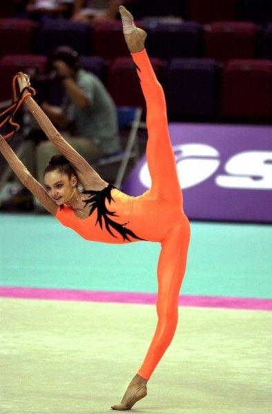 young Anna Bessonova - orange