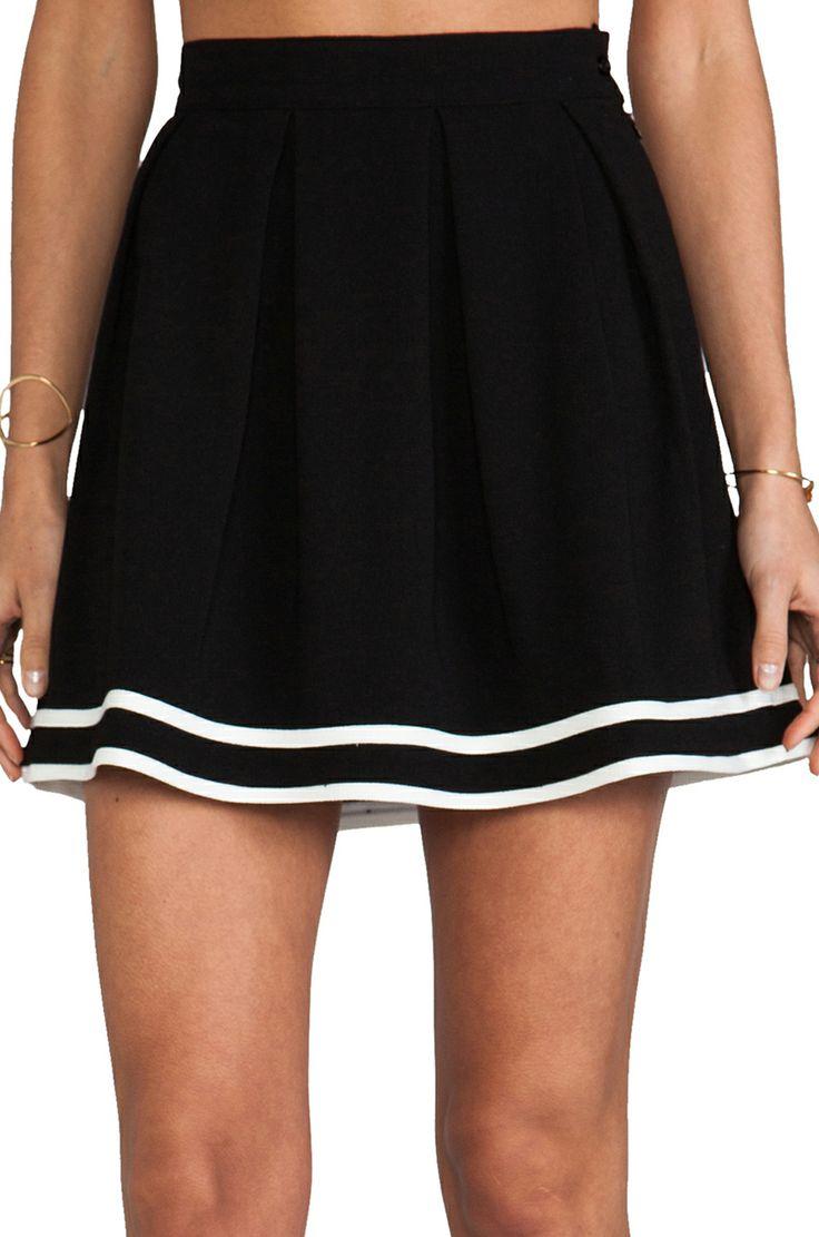 Cheerleader Skirt in Black & White @Pascale Lemay De Groof