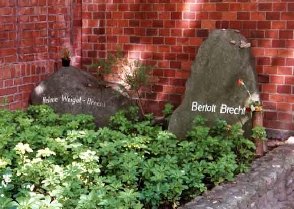 Graves of Helene Weigel and Bertolt Brecht in the Dorotheenstadt cemetery