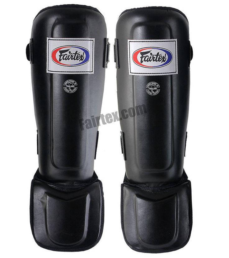 Muay Thai gear Fairtex Pro Style In-Step Double Padded Muay Thai Shin Guards