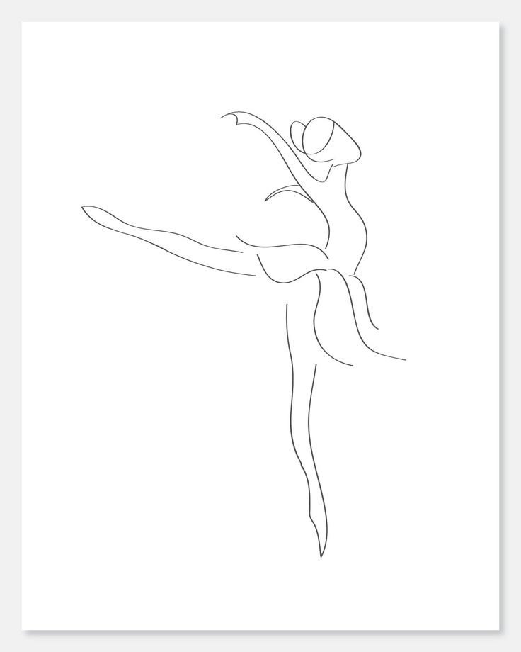 Line Drawing Dancer : Best ideas about ballet dancer tattoo on pinterest