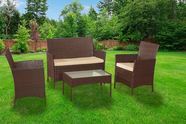 4pc Brown Rattan Garden Sofa Set deal in Sheds & Garden Furniture Get a four-piece garden sofa set.   Includes two armchairs, a sofa and a glass-topped table (sizes below).   Made from weatherproof rattan!  Removable and washable cushions.    Make your garden great again!   Limited number of sets available for just £69 this Boxing Day! BUY NOW for just £69.00