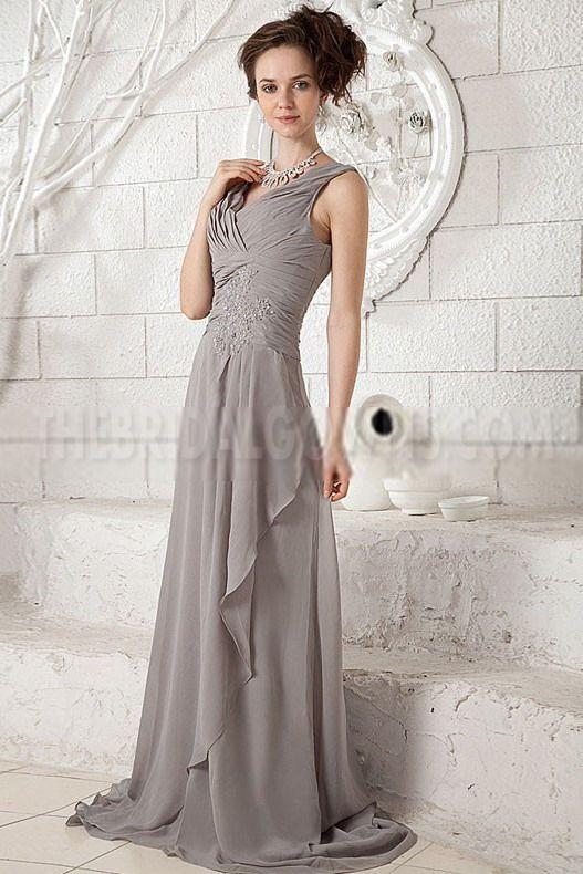 V-Neck Chiffon Brown Evening Dresses - Order Link: http://www.thebridalgowns.com/v-neck-chiffon-brown-evening-dresses-tbg4517 - SILHOUETTE: A-Line; SLEEVE: Sleeveless; LENGTH: Floor Length; FABRIC: Chiffon; EMBELLISHMENTS: Beading - Price: 155USD