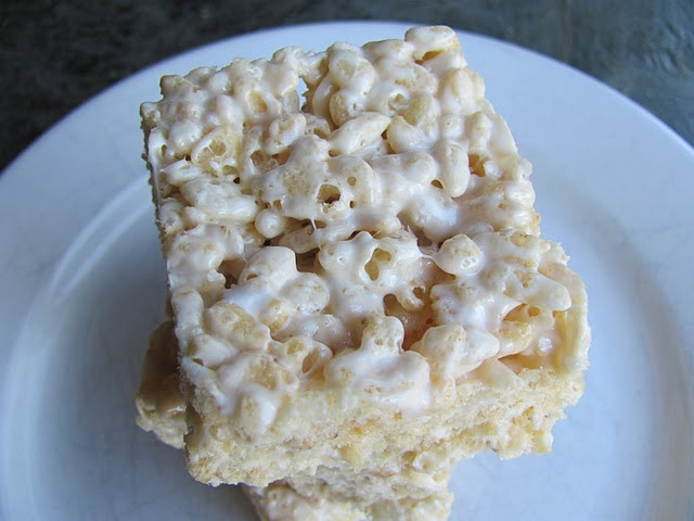 Salted Brown Butter Rice Krispie Treats | cookies | Pinterest