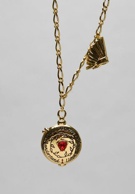 DISNEY COUTURE JEWELRY Pocahontas Compass Locket Necklace in Gold at Revolve Clothing - Free Shipping!