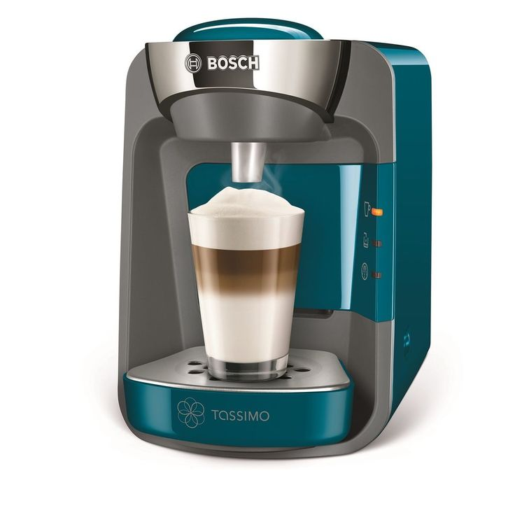 Tassimo Coffee Maker Blue Home Office Hot Drinks Cappuccino Tea Capsules Machine