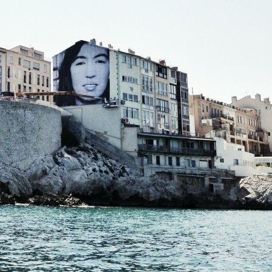 Projet JR à Marseille, Jeune inconnue © Noëlle Delcroix