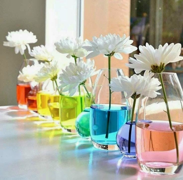 Decoración con los colores del arco iris. Un color para cada día de la semana   Decorar en familia   DEF Deco