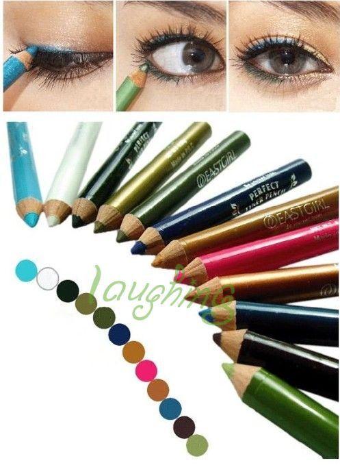 New 12 Color Eye Lip Liner Eyebrow Eyeshadow Pencil Pen Cosmetic Makeup Set Tool py