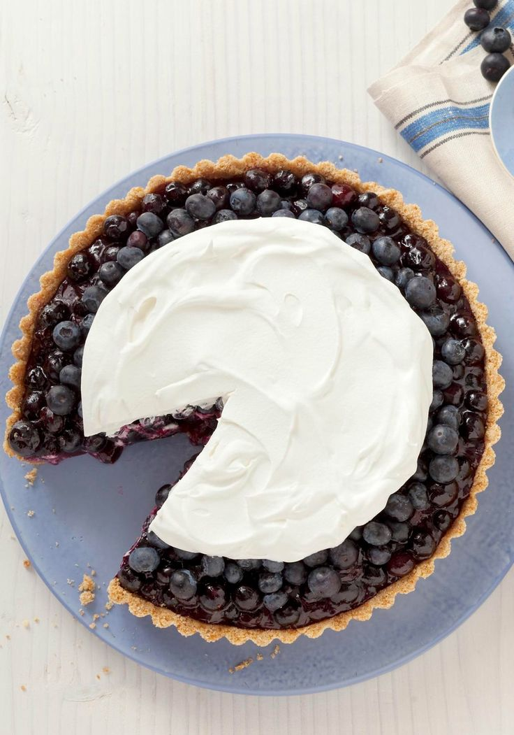 Blueberry Refrigerator Pie — It isn't necessary to have a tart pan to make this Blueberry Refrigerator Pie, but it does maximize the oohs and aahs if you're having company.