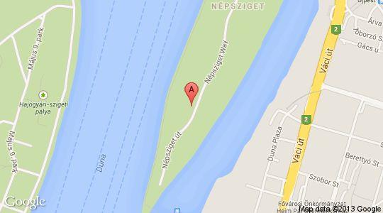 River Club a térképen