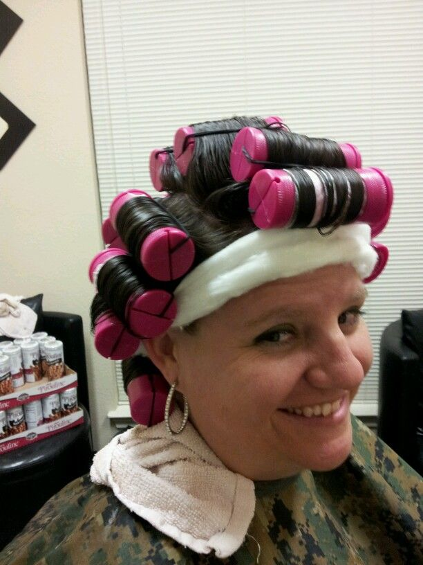 how to clean perm rollers