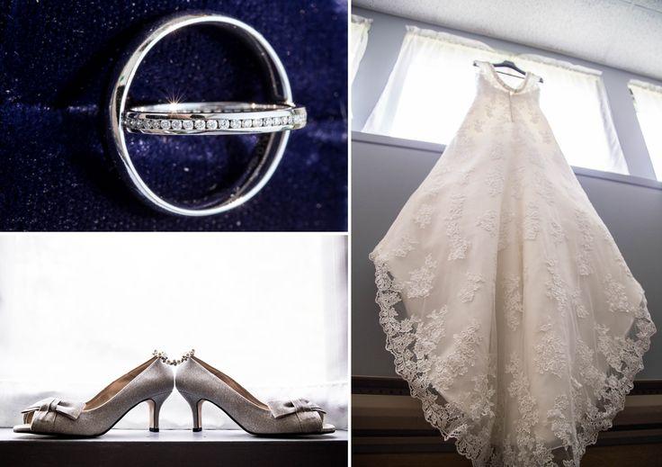 Wedding Dress, Rings and Shoes ©Alicia Robichaud Photography www.arfoto.ca