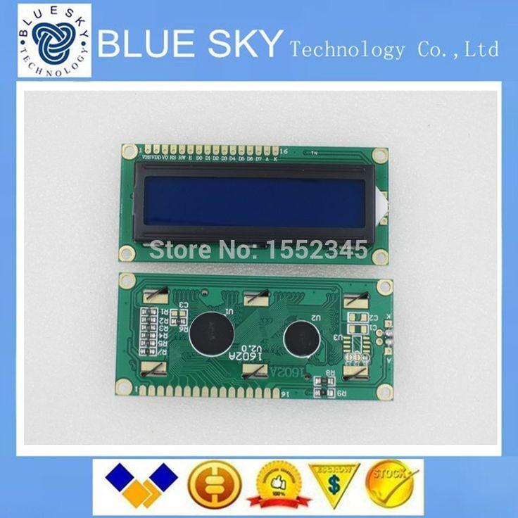 Новый 1 ШТ. ЖК 1602 синий экран Символьный ЖК-Дисплей Модуль Синий Blacklight Новый 16X2 Новый Оригинальный 100%
