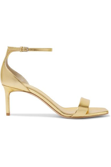 Saint Laurent - Amber Metallic Leather Sandals - Gold - IT38.5