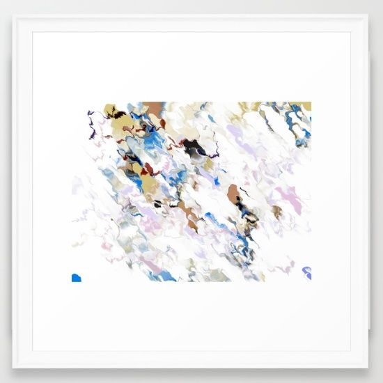 lilac marble Framed Art Print