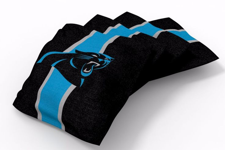 Carolina Panthers Stripe Bean Bags-4pk (A)