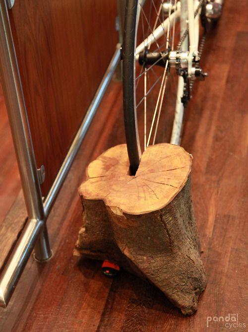 Sustainable #bicycle storage solution. So simple but such a good idea. A bit heavy to carry around though! #bikes #cycling