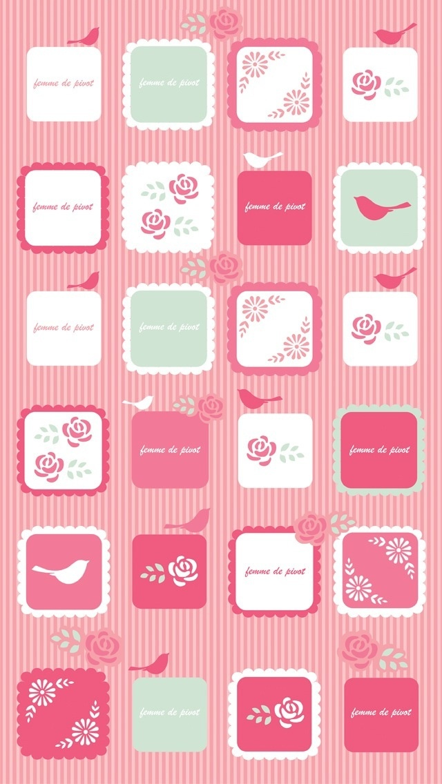 IPHONE 5 pink icons wallpaper All things pink and