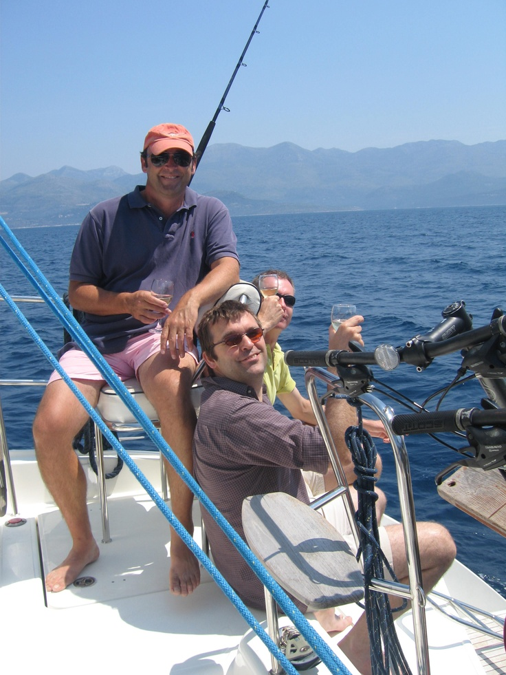 My buddies on the boat