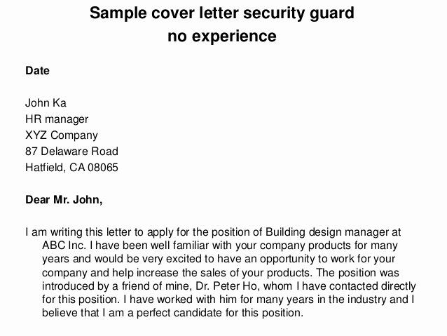 Security Officer Cover Letter Sample Inspirational Security Ficer Cover Letter Writing Lesson Plans Education Quotes Teaching Cover Letter