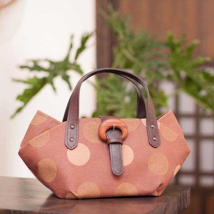 柿渋染め帆布バッグ(鞄)京都町屋散歩「猫トート」- 帆布生地 kiki-29