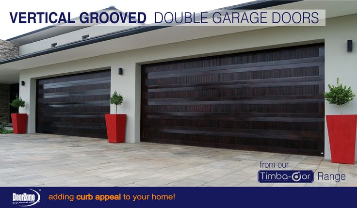 Stylish and Contemporary double Vertical Grooved garage doors from our Timba-dor™ range. www.doorzonesa.com