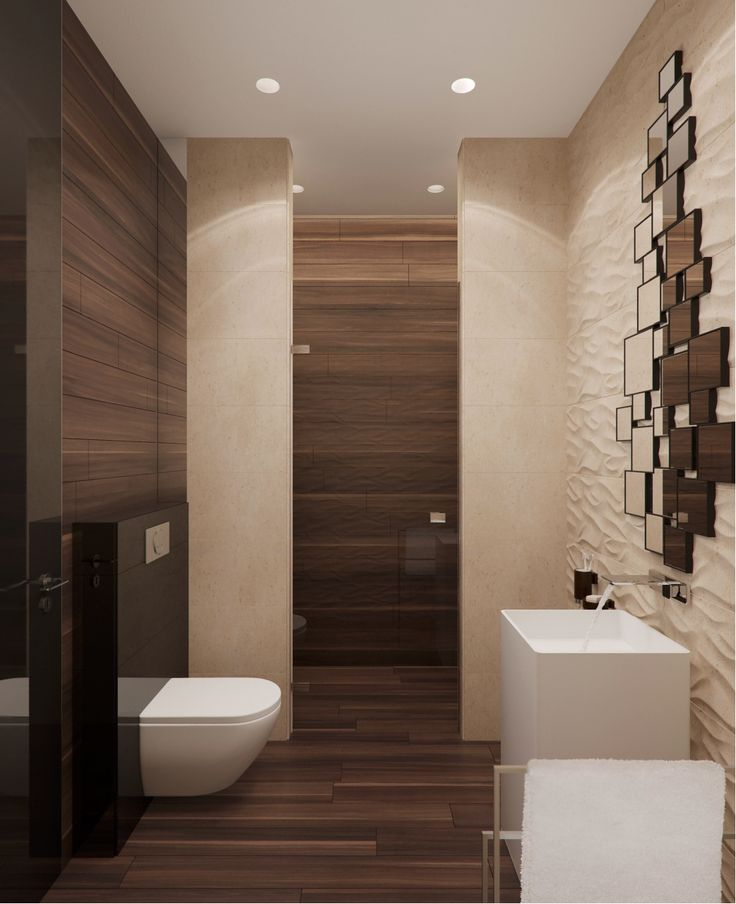 Contemporary Neutral Bathroom With Dark Wood Accents: Bath Room, Bathroom Ideas And Neutral Bath Towels