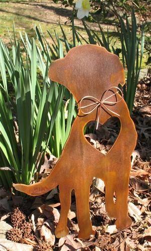 Labrador Retriever Dog Metal Garden Stake - Yard Garden Art - Pet Memorial