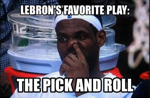 Lebron James' favorite play: The pick and roll! #NBA #Heat                                                                                                                                                                                 More