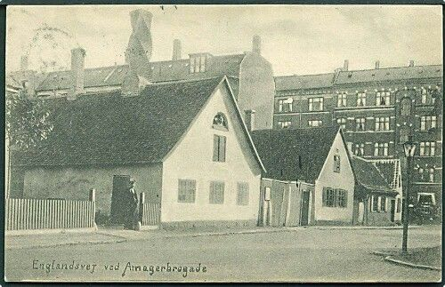 Englandsvej ved Amagerbrogade i 1908. Foto Dansk Industri.