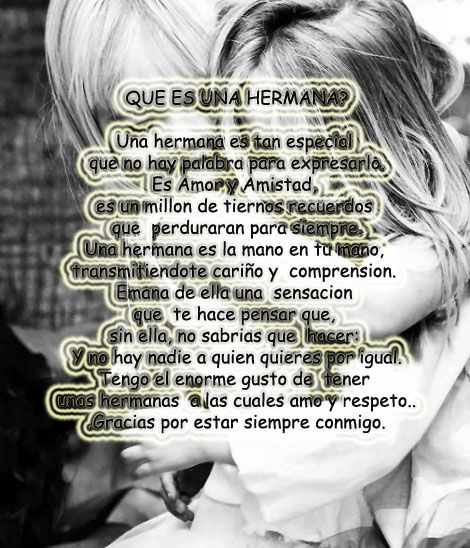 65 best images about frases de hermanos abuelo ect on - Que regalar a tu hermana ...