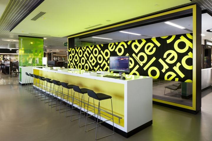 Bloomberg Hub tech installations at London City Airport by Engage Production » Retail Design Blog