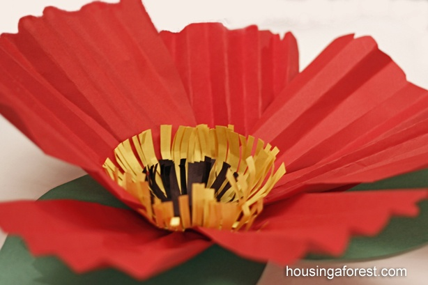 tutorial for large paper flowers, use for O'Keefe study, love these