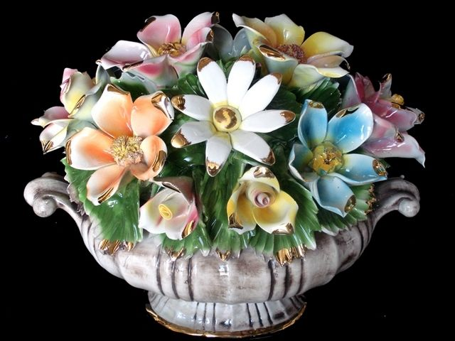 Best images about capodimonte flower centerpiece on