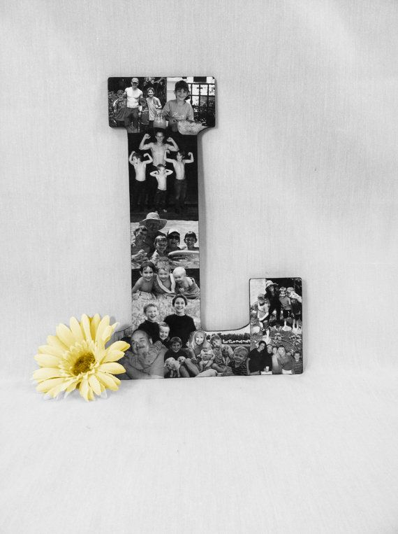 Custom Photo Letter Collage, Personalized Picture Collage, College Dorm Room Collage