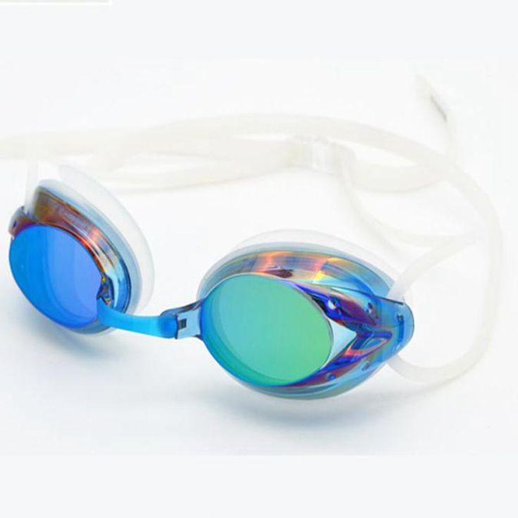 2016 Electroplating UV Waterproof Antifog Swimwear Eyewear Swim Diving Water Glasses Gafas Adjustable Swimming Goggles Women Men