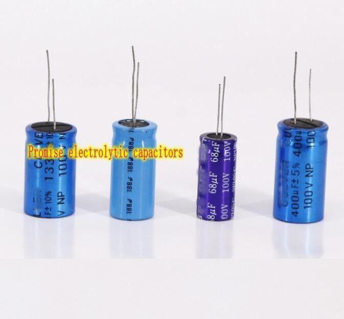 100v 400uf 188uf 133uf 68uf Promise Electrolytic Capacitor Hifi Audio Capacitors Hifi Audio Electrolytic Capacitor Hifi