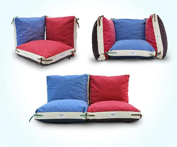 Floor pillow cover, Kids pillow, floor cushion, Large pillow, Big pillow, Children furniture Modular seating pillows that can be connected one to another, perfect for reading, drawing, or pillow fights! : ) Our fabrics palette consist high quality waterproof or furniture fabrics which will