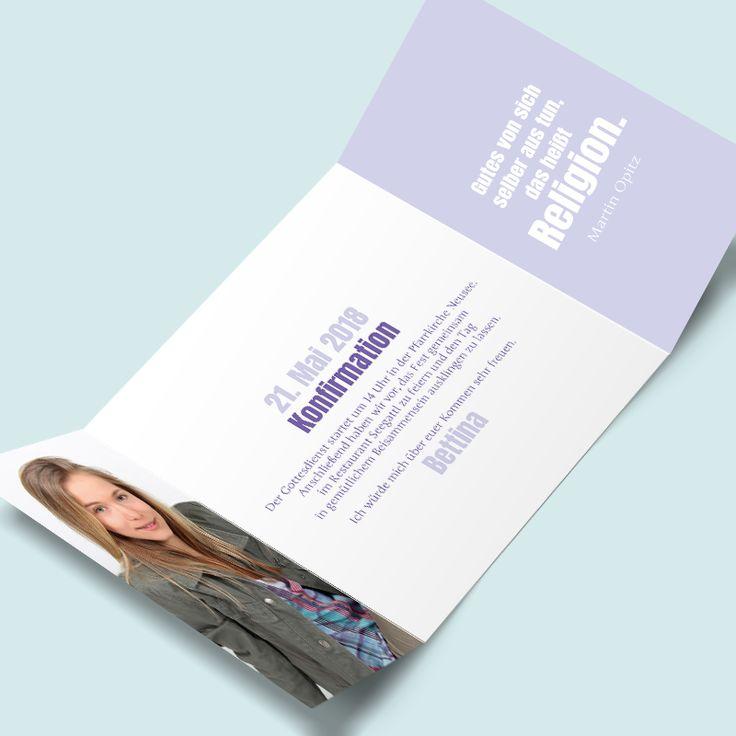 Konfirmationskarten: Fest Im Glauben. Konfirmationskarten: Fest Im Glauben.  Moderne Einladungen Zur Konfirmation ...