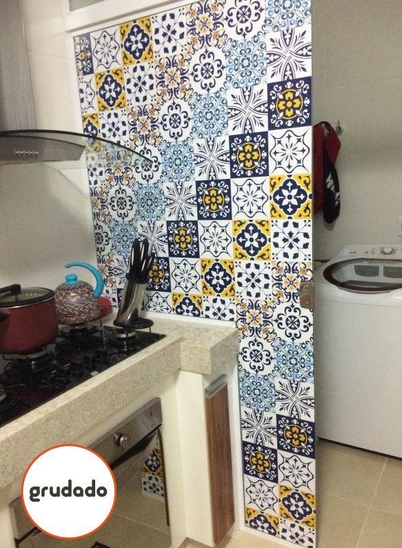 16 melhores imagens de adesivos de azulejo no pinterest adesivo de azulejo adesivos de parede - Azulejos colorines ...