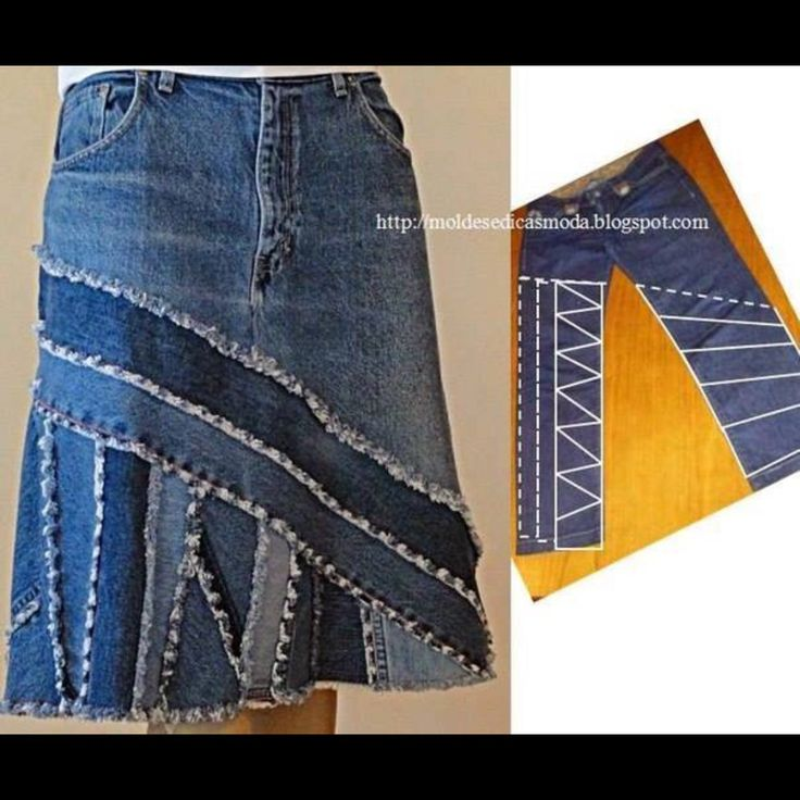 Jeans to a skirt idea