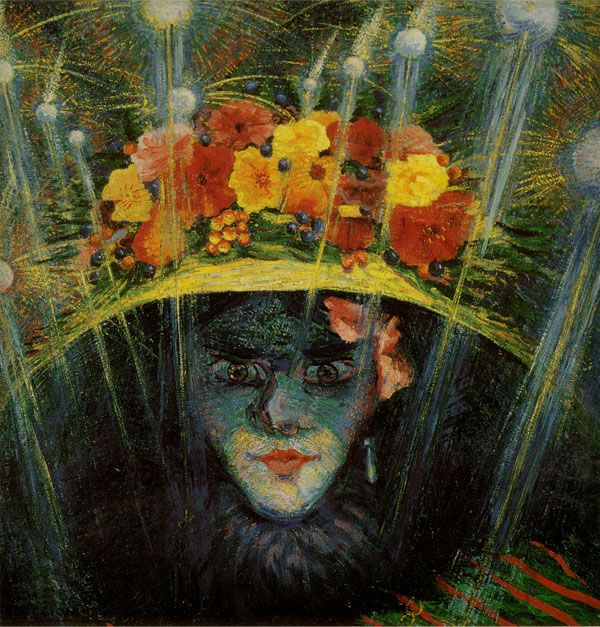 Umberto Boccioni (1882-1916). Idolo Moderno (Modern Idol), 1911. Oil on panel, 60 x 58.4cm. Estorick Collection.